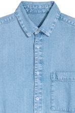 Long denim shirt - Light denim blue -  | H&M CN 3