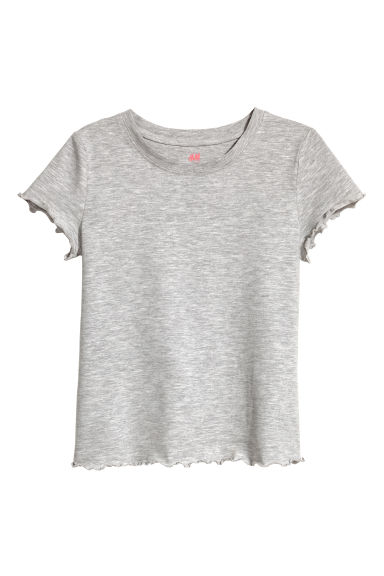 Jersey top - Grey marl -  | H&M CN 1
