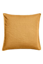 Housse de coussin en lin - Jaune moutarde - Home All | H&M FR 1