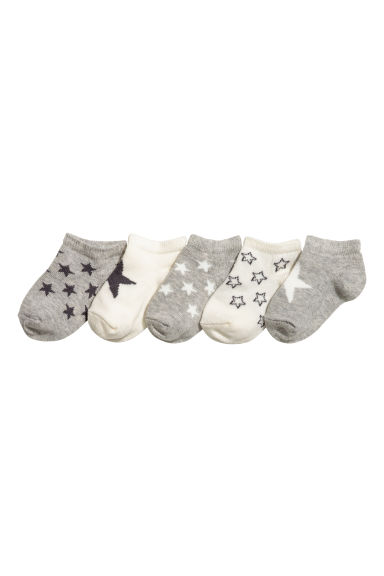 5-pack trainer socks - Grey/Stars - Kids | H&M 1