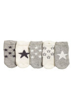 5-pack trainer socks - Grey/Stars - Kids | H&M 2