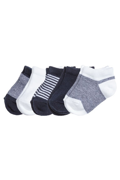 5-pack trainer socks - Dark blue - Kids | H&M CN 1