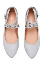 Ballet pumps with ankle straps - Grey - Ladies | H&M CN 2
