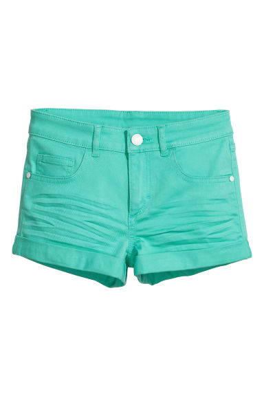Generous fit Twill shorts - Turquoise green - Kids | H&M CN 1