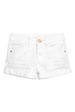 Generous fit Twill shorts - White - Kids | H&M CN 1