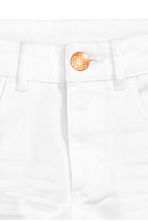 Generous fit Twill shorts - White - Kids | H&M CN 2