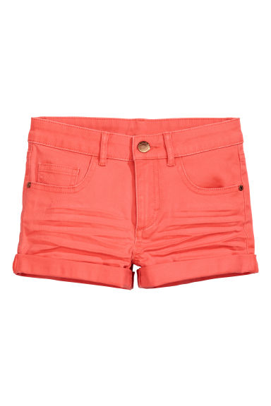 Short en twill Coupe ample - Corail - ENFANT | H&M FR 1