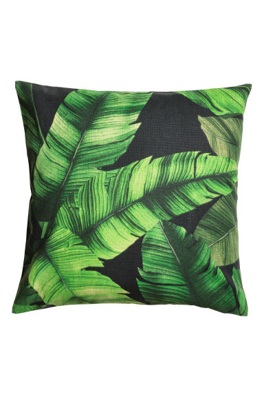 Copricuscino con stampa - Nero/verde scuro - HOME | H&M IT 1