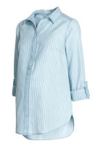 MAMA Denim shirt - Light denim blue/Striped - Ladies | H&M 1