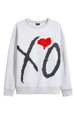 Sweatshirt - Grey/XO - Men | H&M CN 2
