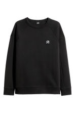 Sweatshirt - Black/XO - Men | H&M 2