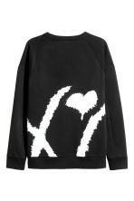 Sweatshirt - Black/XO - Men | H&M 3