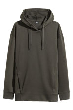 Scuba hooded top - Dark khaki green - Men | H&M CN 2
