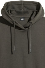 Scuba hooded top - Dark khaki green - Men | H&M CN 3