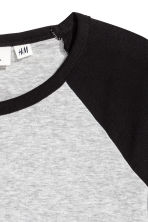 Jersey top - Black/Grey marl - Ladies | H&M 3