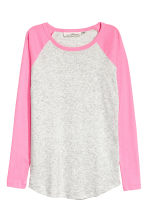 Jersey top - Pink/Grey marl - Ladies | H&M CN 2