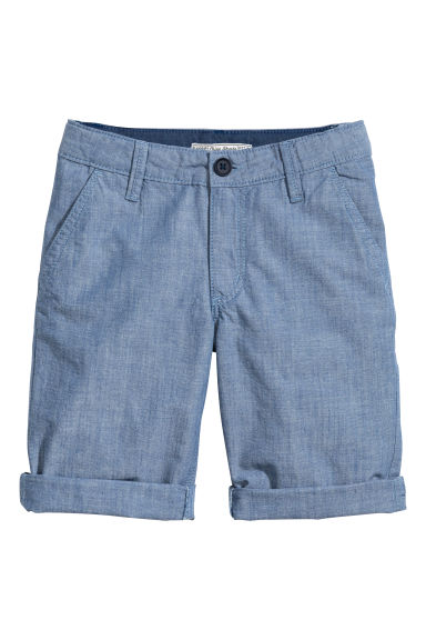 Short chino Coupe ample - Bleu/chambray -  | H&M FR 1