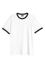 Cotton jersey T-shirt - White - Men | H&M CN 2