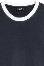 Cotton jersey T-shirt - Dark blue - Men | H&M 3
