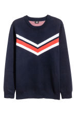 Knitted jumper - Dark blue - Men | H&M 2