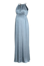 MAMA Satin dress - Blue-grey - Ladies | H&M 2