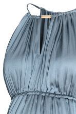 MAMA Satin dress - Blue-grey - Ladies | H&M 3
