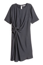 Crêpe dress - Dark grey - Ladies | H&M CN 1