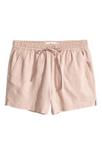 Linen-blend shorts - Light beige - Ladies | H&M CA 2