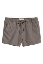 Linen-blend shorts - Dark mole - Ladies | H&M 2