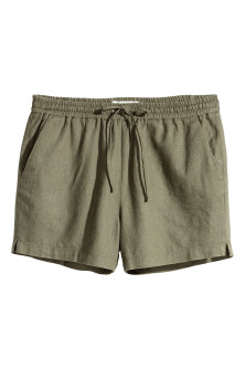 Shorts in misto lino