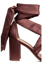Ankle-tie sandals - Plum - Ladies | H&M CN 4