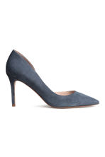 Suede court shoes - Dark grey-blue - Ladies | H&M CN 2