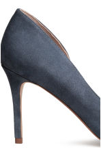 Suede court shoes - Dark grey-blue - Ladies | H&M CN 5