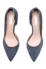 Suede court shoes - Dark grey-blue - Ladies | H&M CN 3