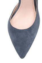 Suede court shoes - Dark grey-blue - Ladies | H&M CN 4