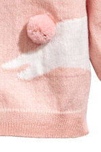 Cotton cardigan - Dusky pink/Rabbit - Kids | H&M 4