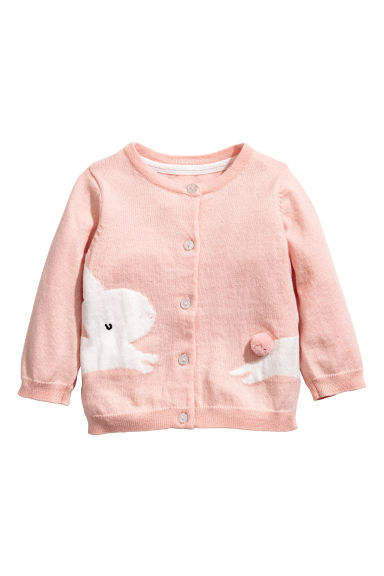 Cotton cardigan - Dusky pink/Rabbit - Kids | H&M 1