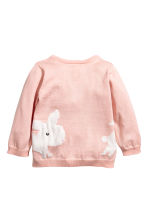 Cotton cardigan - Dusky pink/Rabbit - Kids | H&M 2