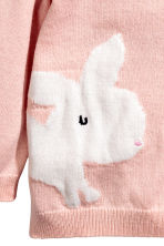 Cotton cardigan - Dusky pink/Rabbit - Kids | H&M 3