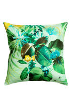 Slub weave cushion cover - Mint green/Floral - Home All | H&M CN 2