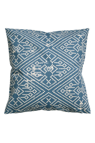 Patterned cushion cover - Blue -  | H&M CN 1