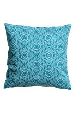 Patterned cushion cover - Turquoise - Home All | H&M CN 2