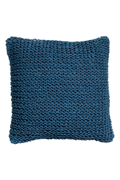 Knitted cushion cover - Navy blue - Home All | H&M CA 1