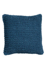 Knitted cushion cover - Navy blue - Home All | H&M CN 1