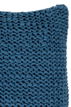 Knitted cushion cover - Navy blue - Home All | H&M CA 2