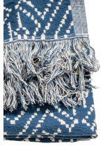 Plaid fantasia - Blu scuro/bianco naturale - HOME | H&M IT 2