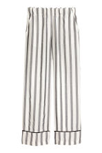 Wide trousers - Black/White/Striped - Ladies | H&M 1
