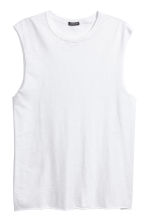 Slub jersey vest top - White - Men | H&M 2