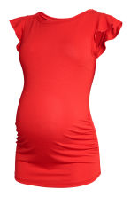 MAMA Top with flounced sleeves - Red - Ladies | H&M CN 2
