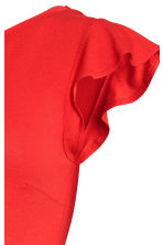 MAMA Top with flounced sleeves - Red - Ladies | H&M CN 3